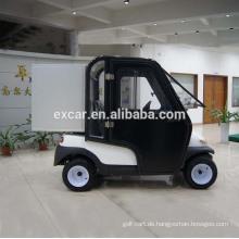 Elektrischer Golfwagen mit 2 Plätzen mit Kabinenbuggyauto Elektrischer Gebrauchsauto
