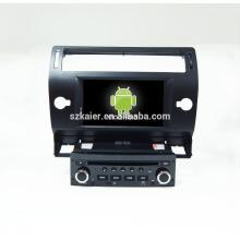 Cuatro núcleos! DVD de coche con enlace de espejo / DVR / TPMS / OBD2 para pantalla táctil de 7 pulgadas de cuatro núcleos 4.4 sistema Android Citroen C4 (Negro)