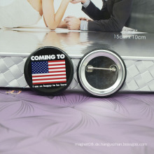 Heißes förderndes mit kundenspezifischem Logo-Metallpin-Abzeichen