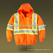 Hoodies de sécurité en orange