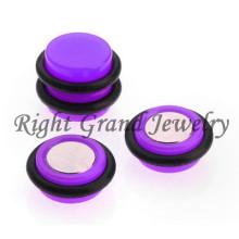 10mm Color de neón falsos Piercings magnético