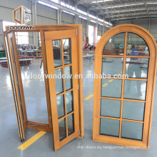 Madera de doble acristalamiento con ventana superior redonda doble colgada