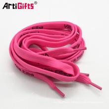 cordones de zapato de cinta de color rosa impresos
