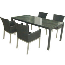 Dining set with aluminum frame