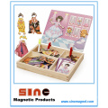 Girl Dress up Magnetic Wooden Change Clothes Puzzle Toys