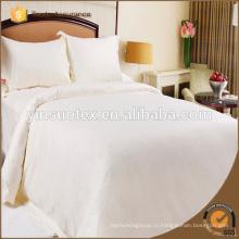 100% Хлопковая Белая Полоса Подержанная Hotel Bed Sheets / flat Bed Sheets