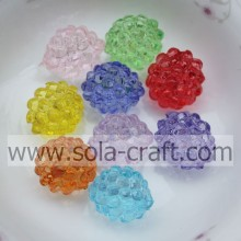 Wholesale Beautiful Transparent Acrylic Strawberry Round Beads