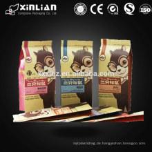 ? Quad-Dichtung Papier Kraft Beutel / Seite Zwickel Tasche für Snacks Essen