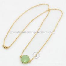 Großhandel von Designer Chalcedon Edelstein handgefertigte Silber Halskette
