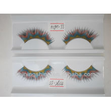 2015 hot design DIY free sample star color false paper eyelashes