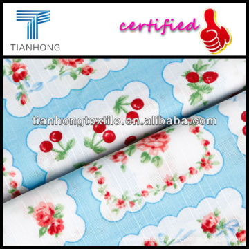 100% Cotton Dobby Fabric/Cotton Printed Fabric/Cherry Printed Fabric