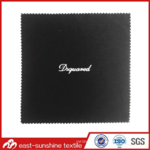 Wholesales Silver Logo Foil Stamping Microfiber Glasses Cleaning Cloth