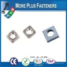 "Made in Taiwan Spring Lock Nut 5/8""-11 Grade A Zinc Finish Steel Regular Square Nut"