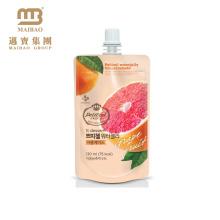 O produto comestível reusável projeta o suco de fruto plástico Doypack de empacotamento com tampão do bico