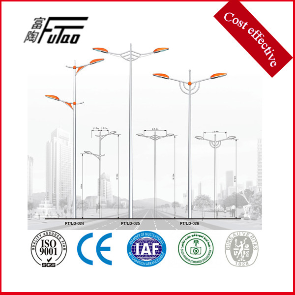 Light Pole Arm: China 3-12 Meters Single Or Double Arm Galvanized Street