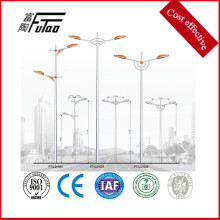 Single Or Double Arm Galvanized Street Light Pole