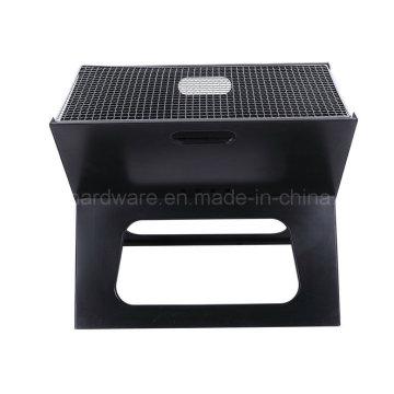 Parrilla plegable / parrilla de barbacoa de carbón de leña de estilo X (se987)