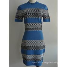 Viscose Nylon - Robe à manches courtes pour dames