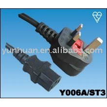 Sell Power Cord Set Made in China- Iec C13 C14 ,euro extension lead,euro cable set,c13- UK plug,UK plug - C7