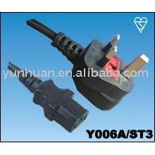 Vender energia cabo conjunto feito em China - Iec C13 C14, fio de extensão do euro, euro cabo conjunto, c13-UK plug, plug UK - C7