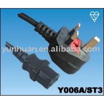 Verkaufen Sie macht Kabel Set Made in China - Iec C13 C14, Euro-Verlängerungskabel, Euro-Kabelsatz, c13-UK-Stecker UK-Stecker - C7