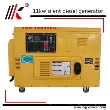 Gerador móvel silencioso do diesel 1kv de 11kw 12kw 15kva Deutz elétrico