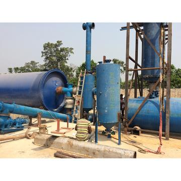 Высокое качество отходов шин пиролизного машины оборудование добычи нефти 50%.реактор пиролиза пластиковых отходов