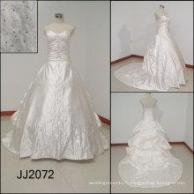 JJ2072 2010 beau train amovible broderie robe de mariée
