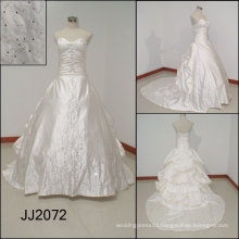 JJ2072 2010 beautiful removable train Embroidery bridal gown