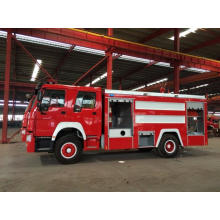 HOWO Fire Truck engine 266hp 8000L loading