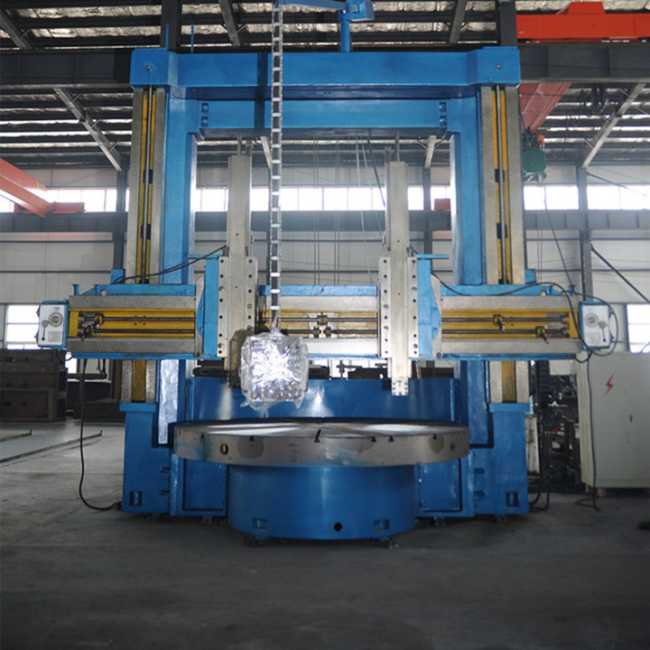 Double column heavy duty cnc vertical lathe