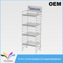 Stand Stackable Stackable Black 5 Tiers Stand de metal para produtos de consumo