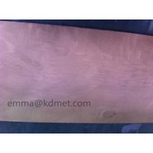 Feuille de Wcu / Feuille de tungstène en cuivre / Plaque d'échappement / Plaque de cuivre en tungstène