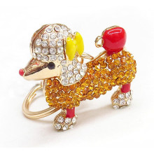 Wholesale rhinestone dog cheap fashion maker custom keychain