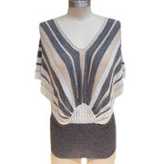 Women's Sweater, Made of Acrylic Flat Yarn, Fashionable Pullover Design