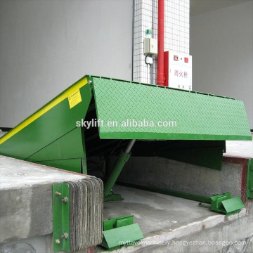 Stationary hydraulic container dock lifts siding