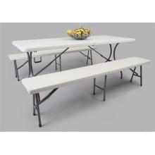 Пластиковый складной стол 6ft и комплект скамьи