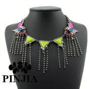 Ladies Multilayer Pearl Bib Charm Necklace Fashion Costume Jewelry