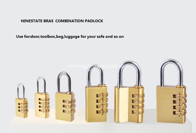 Brass Combination Lock