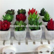 Mini Pot bonsai plastic plant for decoration home indoor