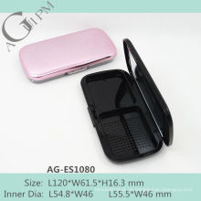 Con encanto Rectangular compacto polvo caja con espejo AG-ES1080, empaquetado cosmético de AGPM, colores/insignia de encargo