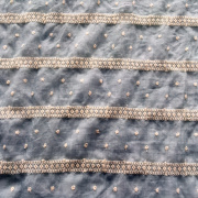 Circle Cotton Yarn Embroidery Fabric On T/C Ground