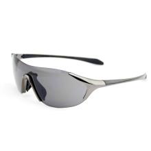 Gafas de sol del deporte de la manera de la aleación del cinc de la lente de una pieza (14311)