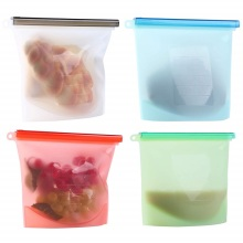 Snack Sandwich Reusable Silicone Food Storage Bag