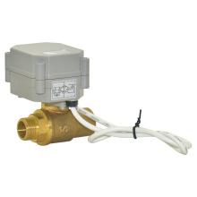 Válvula de bola del agua del flujo eléctrico de la válvula de latón motorizada del hilo de rosca macho del 1/2 '' (T15-B2-A)