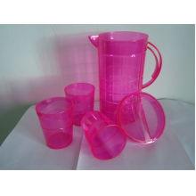 2015 conjuntos de jarra de plástico de diseño de moda de venta caliente