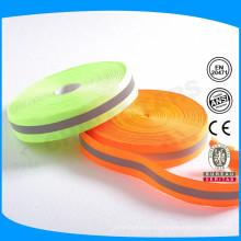 Material reflexivo de color correa de nylon reflectante de colores para ropa de seguridad