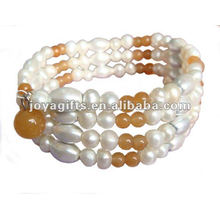 Magnetic Honey Topaz Beaded wrap Bracelets & Necklace 36""