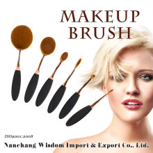 2016 New Arrival 6PCS Oval Private Label Makeup Brush Set