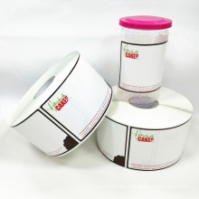 Customized Labels For Food Container,Offset Printed Roll Peel Off Label,Tear Paper Sticker Roll